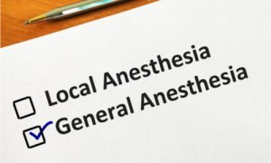 local or general anesthesia selection