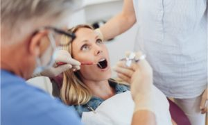 The patient will need to receive a dental anesthetic first.